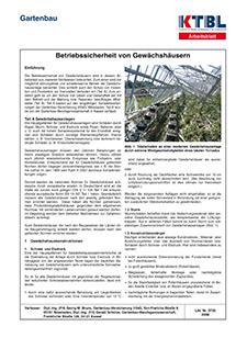 Betriebssicherheit von Gewächshäusern | KTBL