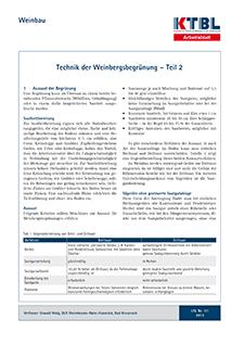 Technik der Weinbergsbegrünung - Teil 2 | KTBL