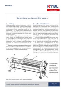 Ausstattung von Kammerfilterpressen | KTBL